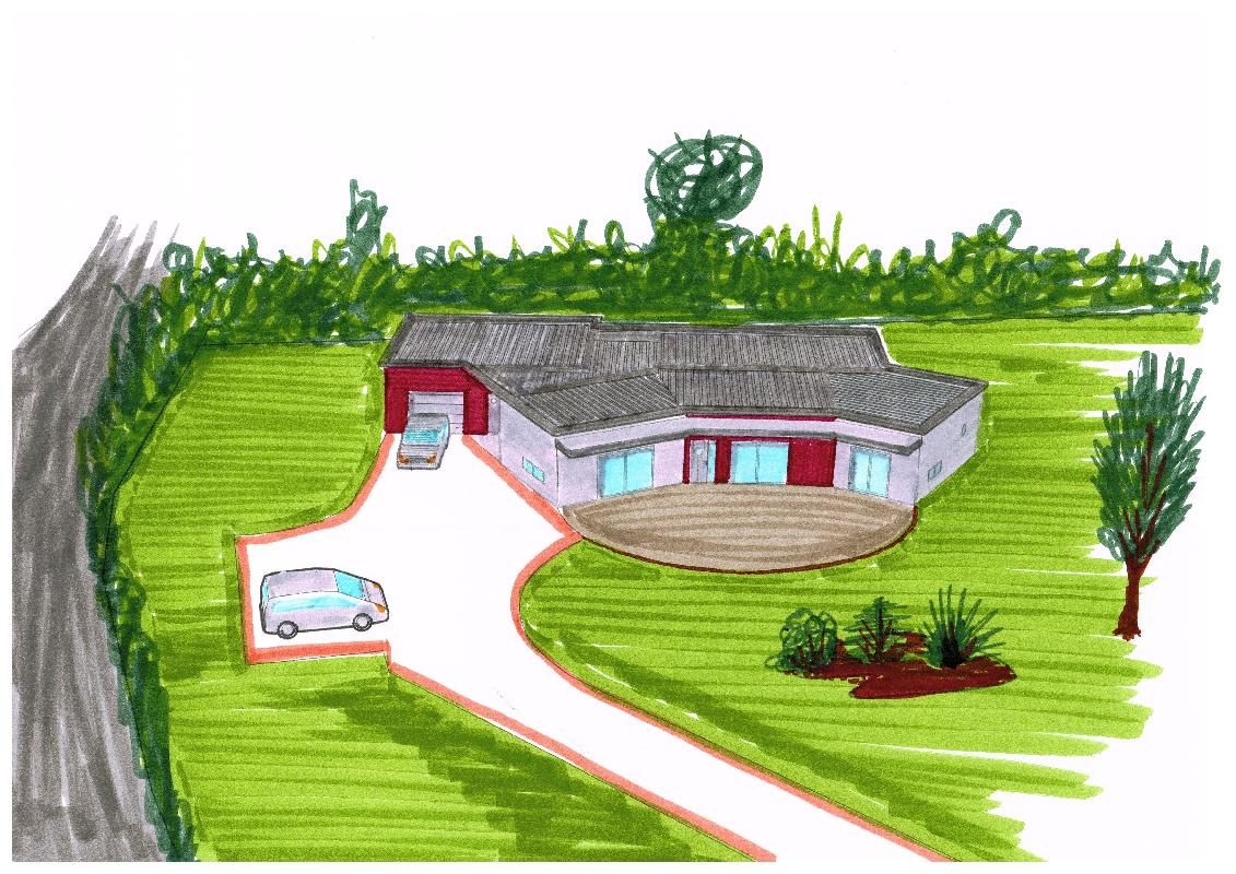 Philippe moinet plan dessin fert bernard adresse for Dessin architecture maison