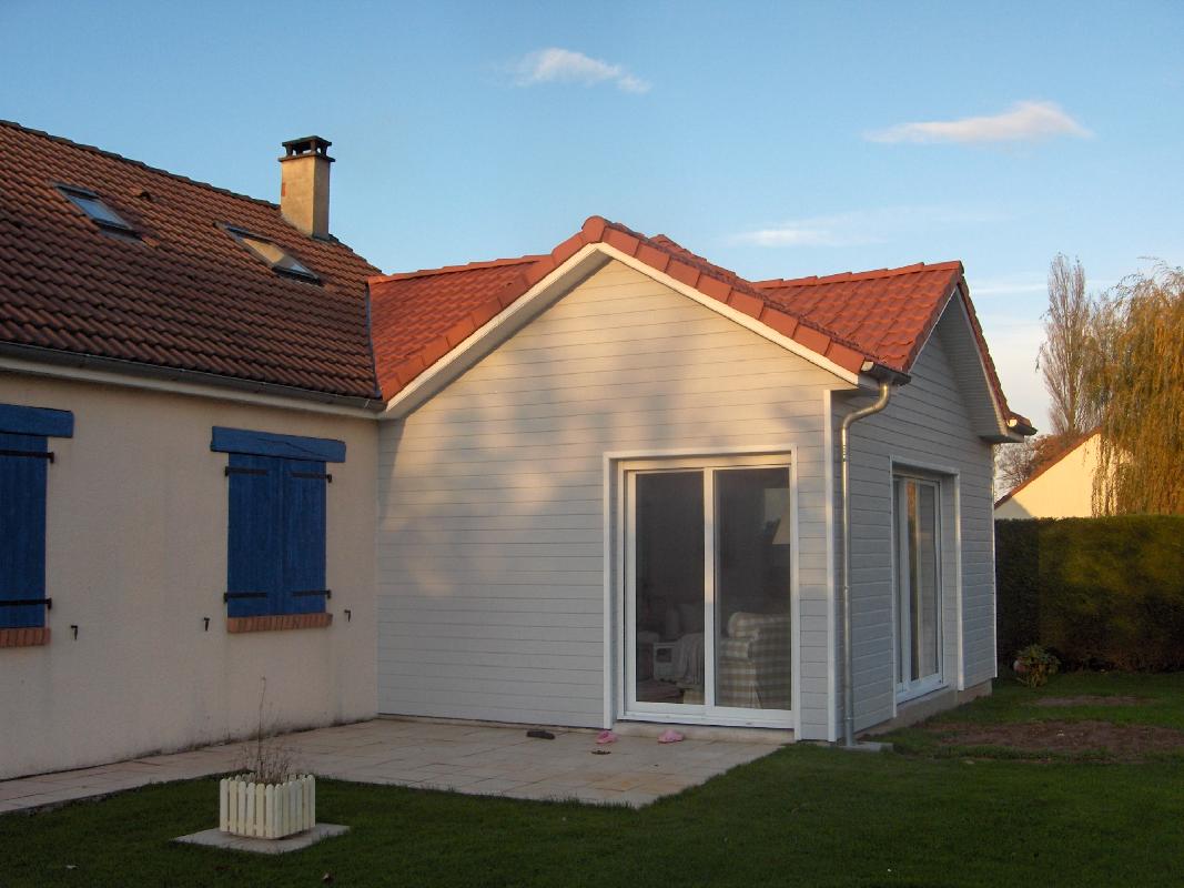 Pascal leclerc architecte dplg expert b timent sainte for Extension maison pour chambre